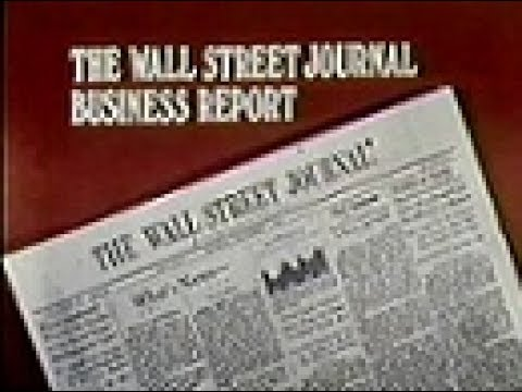 WGN Channel 9 - The Wall Street Journal Business Report with Floyd Brown (1981)