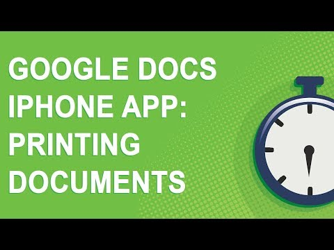 Printing Google Docs from an iPhone (2018)