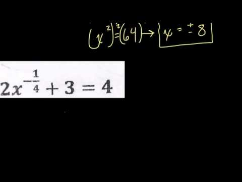 Fraction and negative fraction exponents