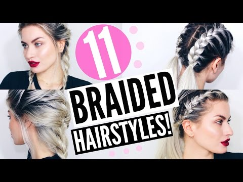 11 BRAIDED HAIRSTYLES! HEATLESS & EASY | LYSSRYANN