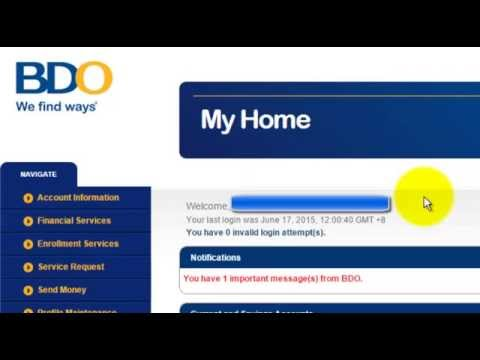 Banco De Oro - Transferring money online using