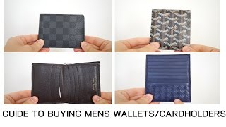 Guide to Buying Mens Wallets and Cardholders | Louis Vuitton Goyard |