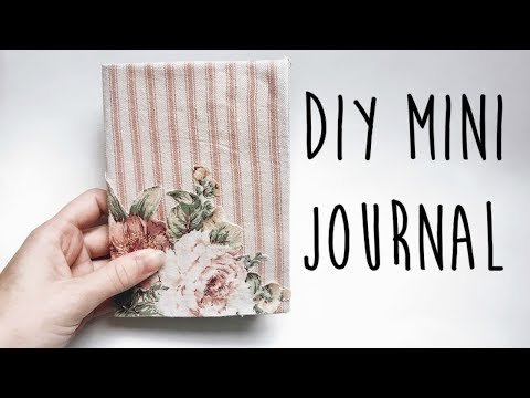 Easy How to Make a Mini Journal | DIY Pocket Sized Journal