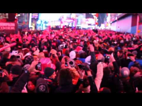 Digitally Stablized New Years 2015 from Time Square New York