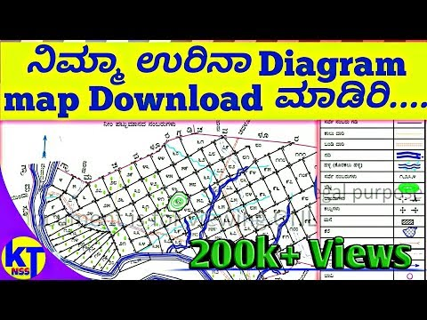 How to see your Area diagram map full details Karnataka any village