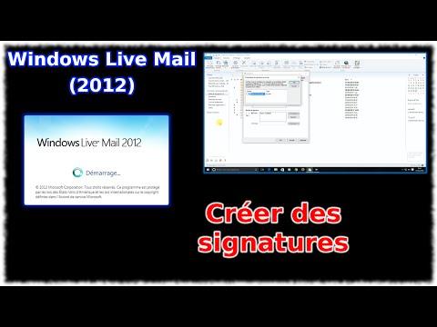 Tuto Windows Live Mail 2012 - Créer des signatures