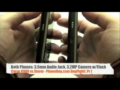 BlackBerry Storm v Curve 8900, Pt 1 - PhoneDog DogFight!