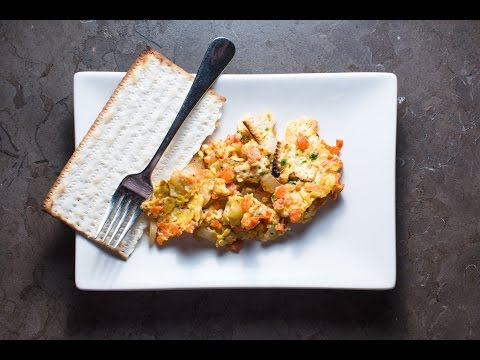 The Best Homemade Matzo Brei with Lox | Recipe by SAM THE COOKING GUY