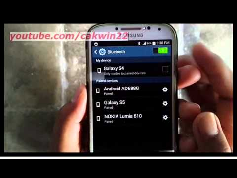 Samsung Galaxy S4 : How to rename paired Bluethoot device (Android Kitkat)