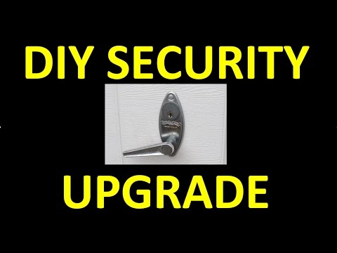 DIY: Manual Garage Door Security Upgrade!  Cheap Trick - Quick Fix