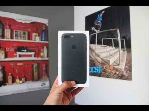 Switching to IOS: Matte Black IPhone 7 Plus 128gb Unboxing & Set Up