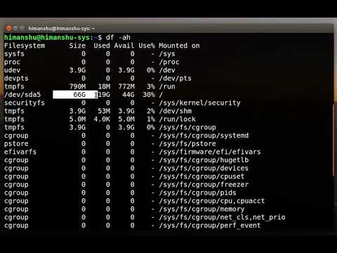 Linux- How to check disk space on Linux with df Terminal commands