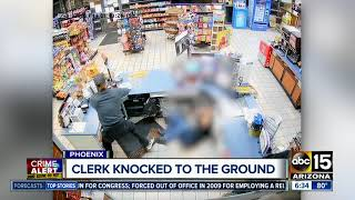 Robber punches employee at Phoenix gas station