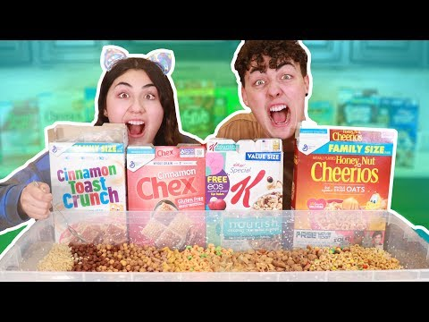 MIXING ALL OF MY CEREALS TOGETHER AND EATING IT ~ all American cereals mixed!!