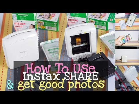 How To Use Instax Share Photo Printer and Get good Photos