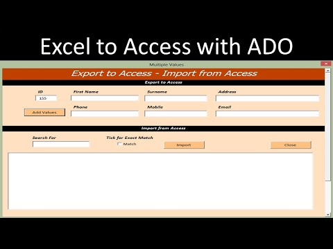 Export Excel to Access Database with ADO