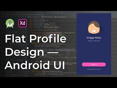 Profile Flat UI Design Adobe Xd to Android Studio Tutorial