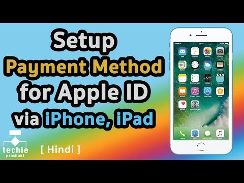 How to Setup App Store Payment Method for Apple ID via iPhone, iPad. HINDI