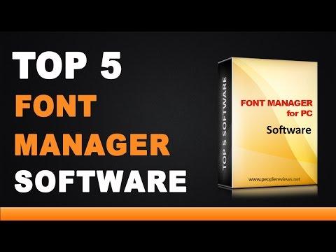 Best Font Manager Software - Top 5 List