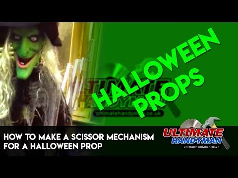 How to make a scissor mechanism for a Halloween prop