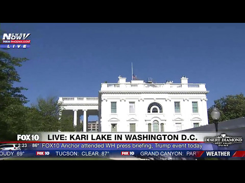 MUST WATCH: Kari Lake Gives Tour of White House Grounds, Sean Spicer's Press Briefing Room (FNN)