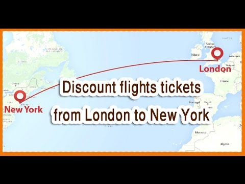 Discount flights tickets from London to New York