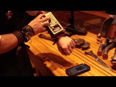 FUNCTIONAL Steampunk Wrist Keyboard ⚙⚙