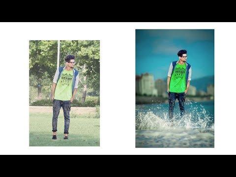How to edit water splash photo in  photoshop