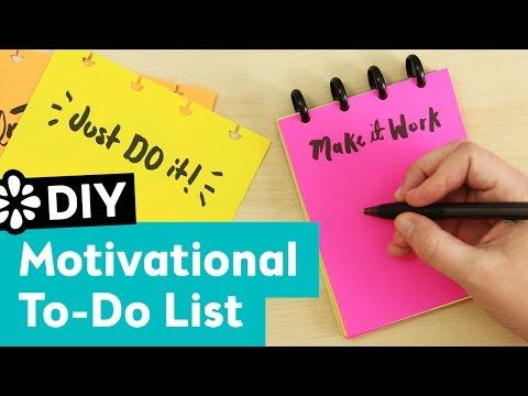 DIY Motivational To Do List Pad | Sea Lemon