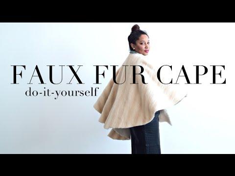 {DIY} A Faux Fur Cape, Darling!