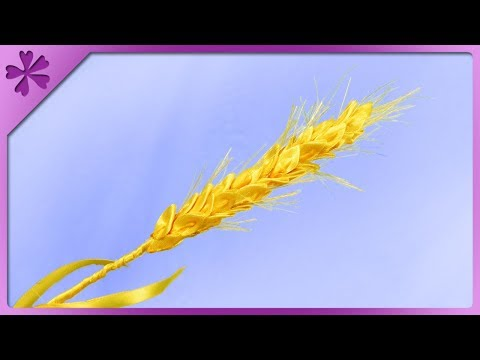 DIY How to make ribbon cereal ear, kanzashi (ENG Subtitles) - Speed up #479