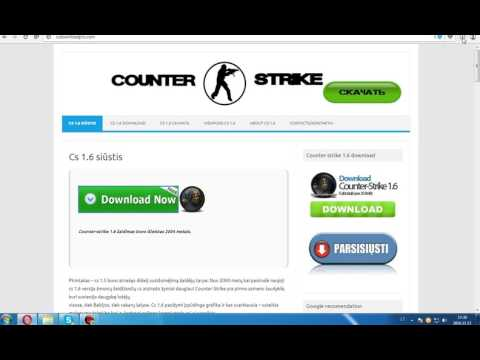 Pamoka [5] Kap atsisiūsti Counter strike 1.6 be jokiu reklamų