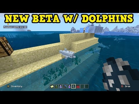 Minecraft DOLPHINS FINALLY ADDED To Pocket Edition 1.4