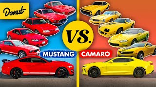 Mustang vs Camaro - Who won each decade? (1960s - TODAY)