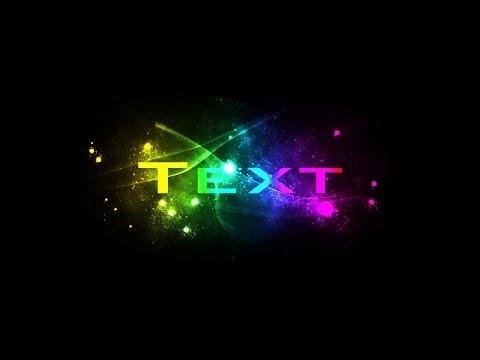 Photoshop Tutorial : Spectrum Color text effect