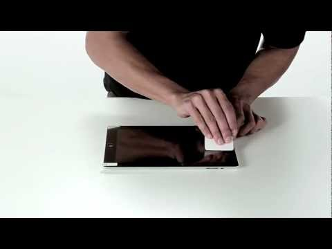 Belkin screen protector for iPad installation video