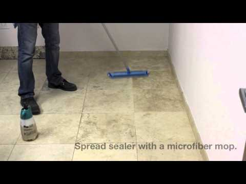 How To Seal Travertine Floors With Stone Pro Porous Pro Sealer