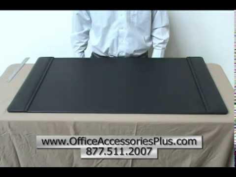 Black Leather 38 x 24 Desk Pad - Office Accessories Plus