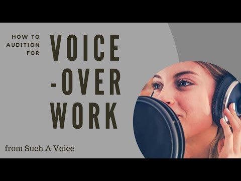How to Audition for Voice-Over Work