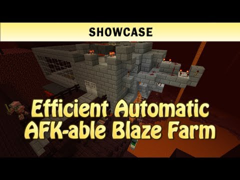 Minecraft Showcase: Efficient Automatic AFK-able Blaze Farm