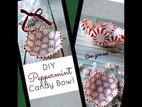 DIY peppermint candy bowl!