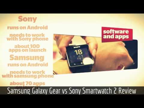 Samsung Galaxy Gear 2 vs Sony Smartwatch 2 Review HD summary