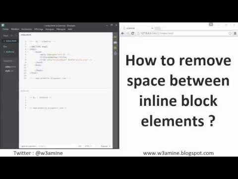 How to remove space between inline block elements ?