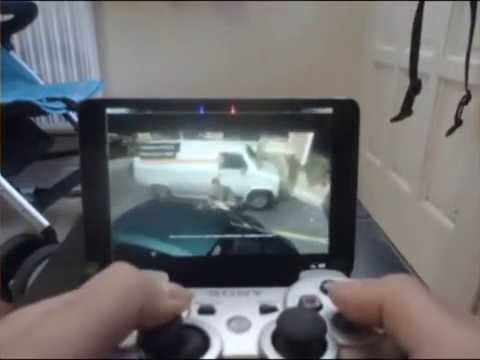 Watch dogs on ipad using ps3 controller!