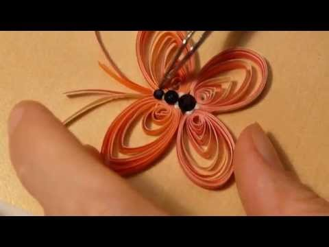 How to make a paper butterfly using Quilling techniques