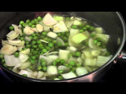 Vegetarian Arugula Green Bean Soup by Chef Alex Mok