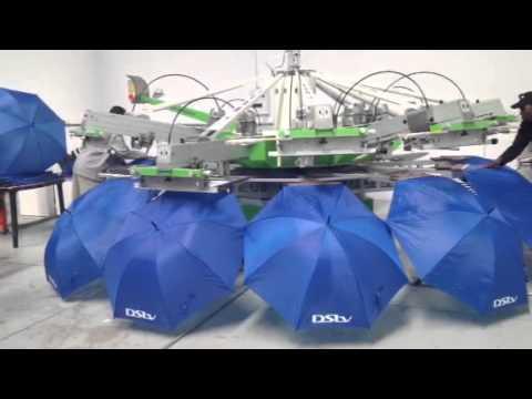 ST Umbrellas new automatic silkscreen machine