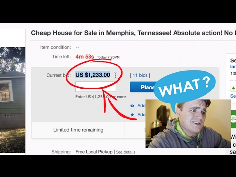 HOUSE SOLD ON EBAY FOR $1,233.00