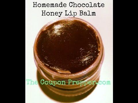 Homemade Chocolate Honey Lip Balm