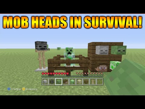 ★Minecraft Xbox 360 + PS3: Title Update 31 How To Get Mob Heads In Survival Tutorial★